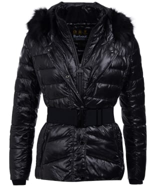 Women's Barbour International Marleigh Quilted Jacket - Black
