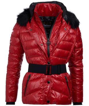 Women's Barbour International Marleigh Quilted Jacket - Scarlet