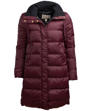 Women's Barbour Weatheram Quilted Jacket - Aubergine