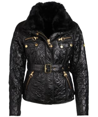 Women's Barbour Icons International Polarquilt Jacket - Black
