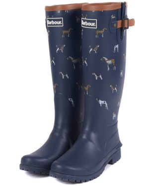 Women's Barbour Blyth Wellingtons - Navy Print