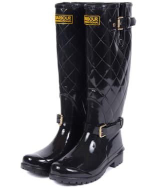 Women's Barbour International Catalunya Wellingtons - Black