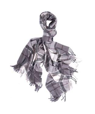 Women's Barbour Hailes Tartan Wrap - Grey / Juniper Tartan