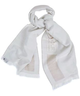 Women's Barbour International Reversible Scarf - Oyster / Cloud