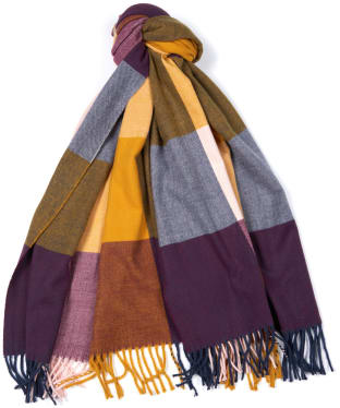 Women's Barbour Pastel Check Scarf - Golden Yellow Mix