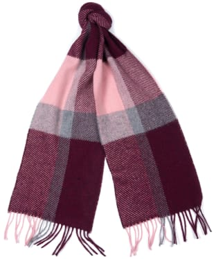 Women's Barbour Hamble Check Scarf - Pink