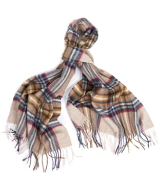 Women's Barbour Lonnen Check Scarf - Natural / Grey
