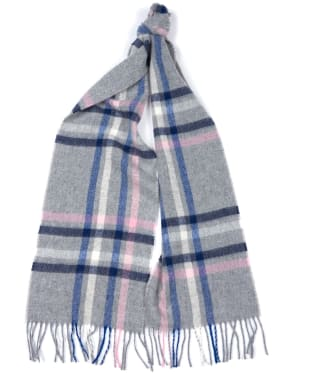 Women's Barbour Moorland Check Scarf - Grey