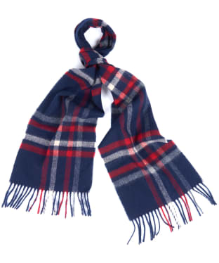 Women's Barbour Moorland Check Scarf - Navy