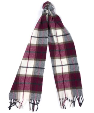 Women's Barbour Derwent Check Scarf - Juniper / Ecru