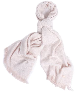 Women's Barbour International Cortina Boucle Scarf - Pink / Cloud