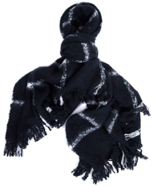 Women's Barbour International Morzine Scarf - Black / Cloud