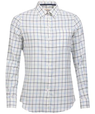 Women's Barbour Triplebar Check Shirt - Oxford Blue Check