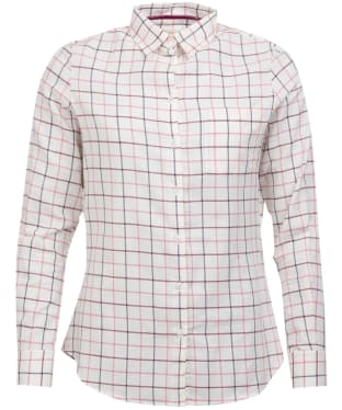 Women's Barbour Triplebar Check Shirt - Aster Pink Check