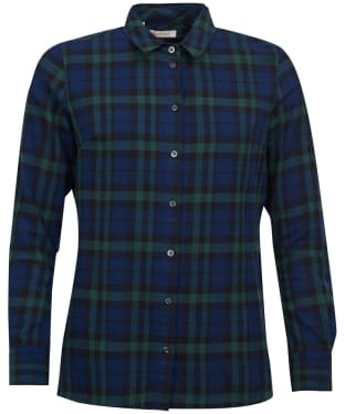 Women's Barbour Dover Shirt - Navy / Kelp Check