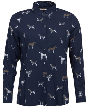 Women's Barbour Stirling Shirt - Navy Dog Print