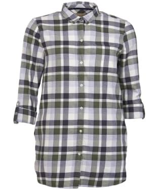 Women's Barbour Lewes Shirt - GREEN/GREY CHK