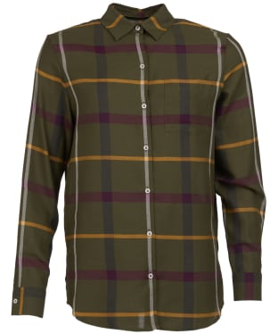 Women's Barbour Oxer Check Shirt - Olive Check
