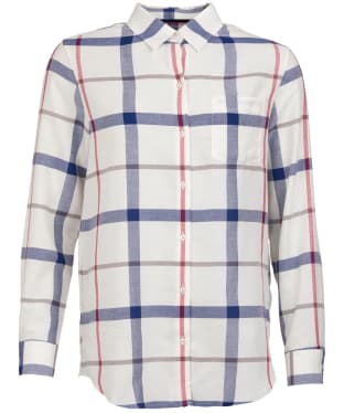 Women's Barbour Oxer Check Shirt - Cloud Check