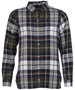 Women's Barbour Moors Shirt - Olive / Navy Check