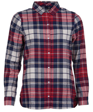 Women's Barbour Moors Shirt - Red / Navy Check
