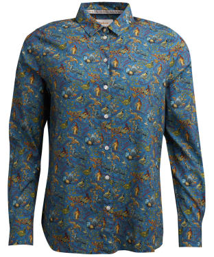 Women's Barbour x Emma Bridgewater Eleanor Shirt - Stormy Blue Game Bird Print