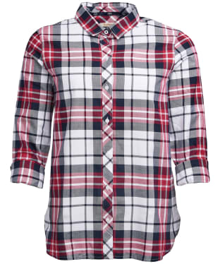 Women's Barbour Stokehold Shirt - Deep Pink Check
