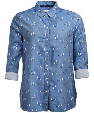 Women's Barbour Scallop Shirt - Chambray Print
