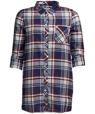 Women's Barbour Windbound Shirt - Bordeaux / Navy