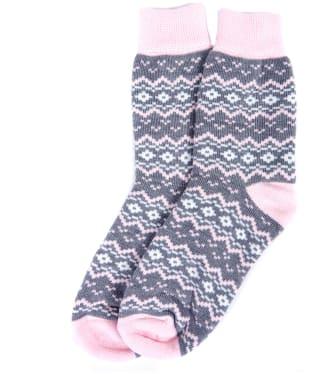 Women's Barbour Roseberry Fairisle Boot Socks - Olive
