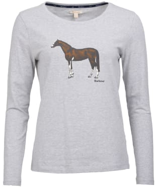 Women's Barbour Audley Long Sleeved Tee - Light Grey Marl