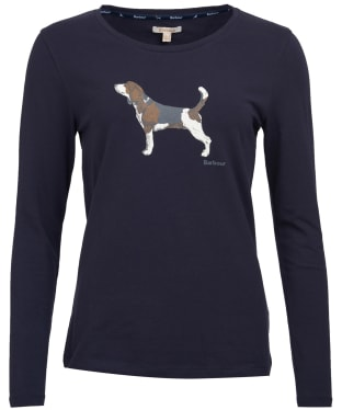 Women's Barbour Audley Long Sleeved Tee - Navy