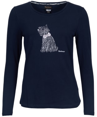 Women's Barbour Skye Long Sleeved Tee - Navy