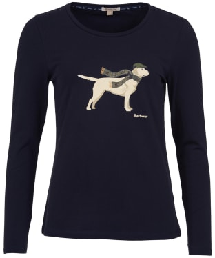 Women's Barbour Dale Long Sleeved Tee - Navy