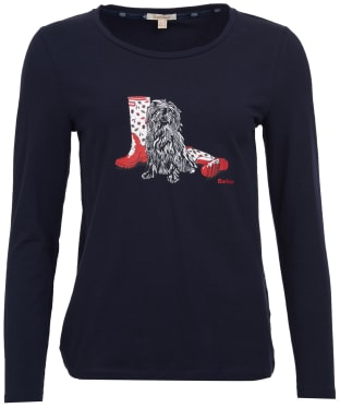 Women's Barbour Broads Long Sleeved Tee - Navy