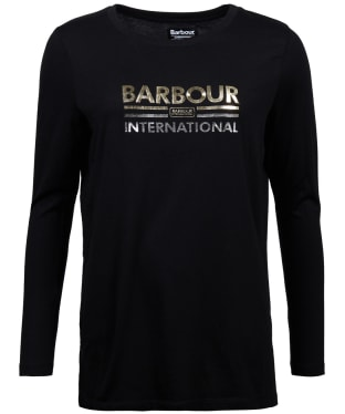 Women's Barbour International Ronda Tee - Black