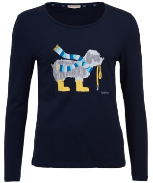 Women's Barbour Oyster Long Sleeved Tee - Navy