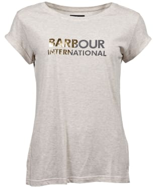 Women's Barbour International Doran Tee - Oatmeal Marl