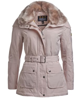 Women's Barbour International Bowden Waterproof Jacket - Oyster