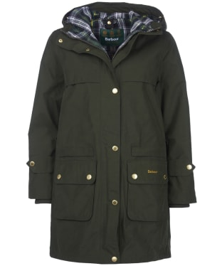 Women's Barbour Icons Durham Waterproof Jacket - Sage
