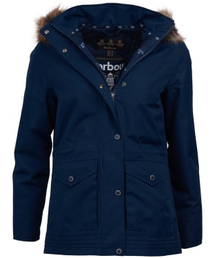 Women's Barbour Abalone Waterproof Jacket - Navy