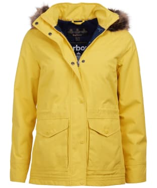 Women's Barbour Abalone Waterproof Jacket - Sulphur Yellow