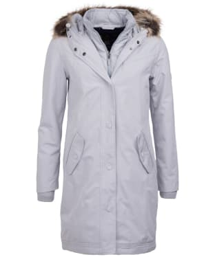 Women's Barbour Mast Waterproof Jacket - Ice White