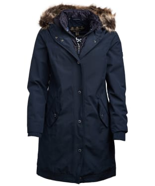 Women's Barbour Mast Waterproof Jacket - Navy