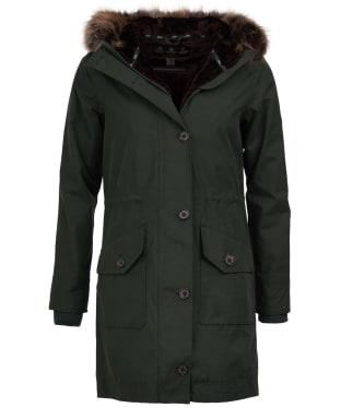 Women's Barbour Tellin Waterproof Jacket - Wilderness Green