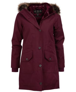 Women's Barbour Tellin Waterproof Jacket - Bordeaux