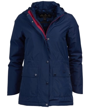 Women's Barbour Crest Waterproof Jacket - Navy