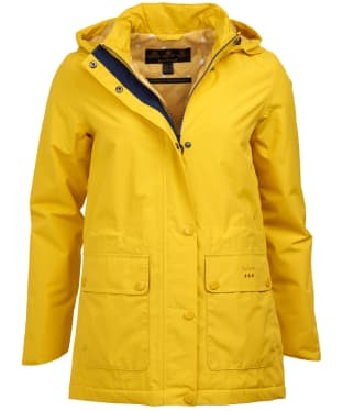 Women's Barbour Crest Waterproof Jacket - Sulphur Yellow