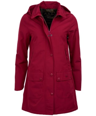 Women's Barbour Brisk Waterproof Jacket - Deep Pink
