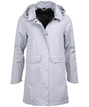 Women's Barbour Element Waterproof Jacket - Ice White